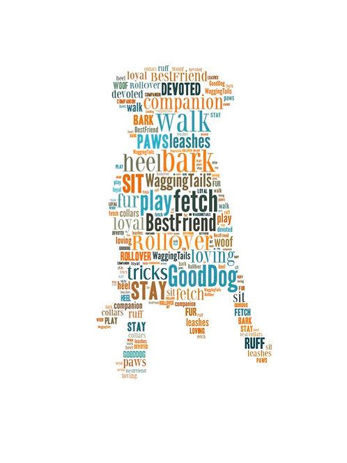 'Dog Words' Artwork