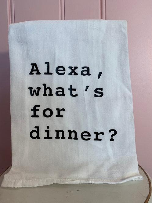 """Alexa, what's for dinner?"" Kitchen Towel"