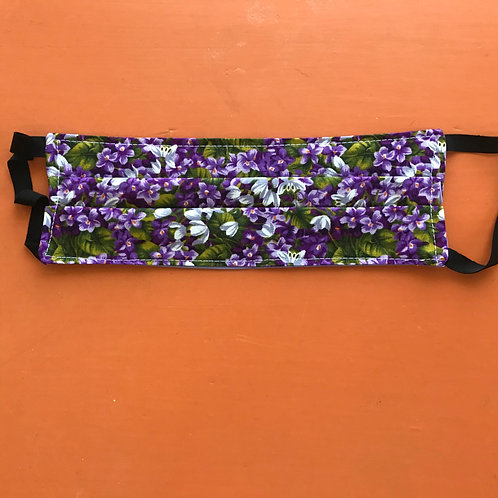Purple Flowers Mask Elastic