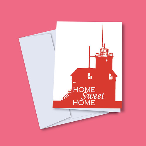 'Home Sweet Home' Lighthouse Card