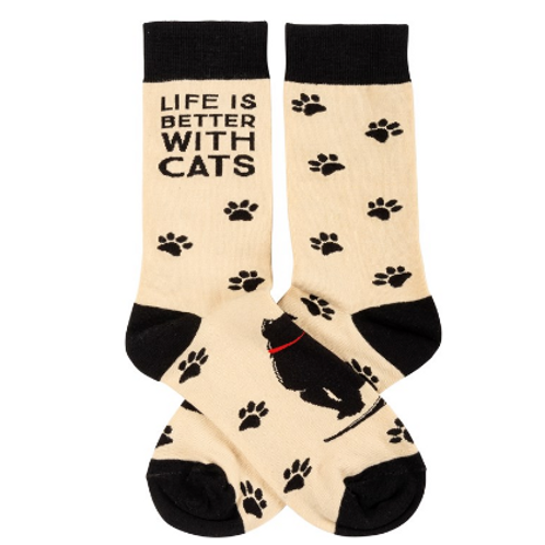 'Life is Better with Cats' Women's Socks