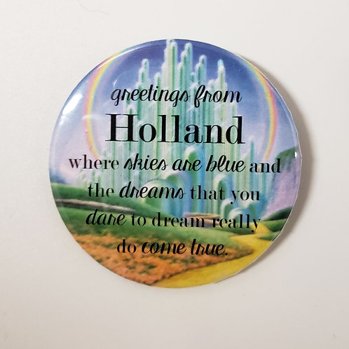 Greetings From Holland Pin