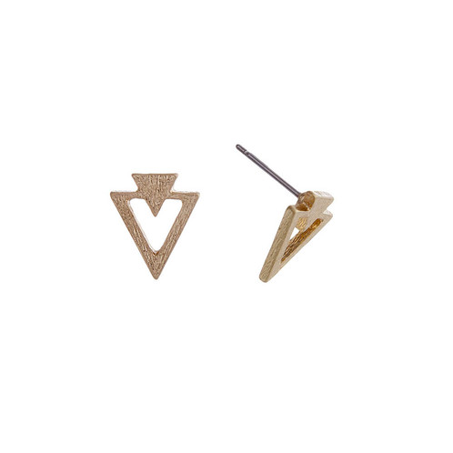 Gold Tone Post Style Earrings Roximately 3 8 In Length