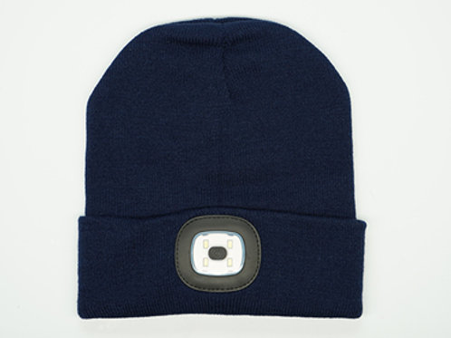 Navy Unisex Night Scout Rechargeable LED Beanies