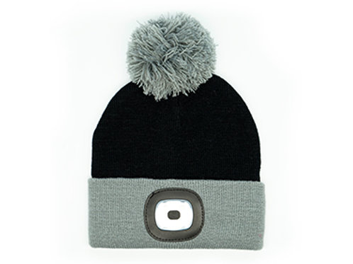 Black Kids Rechargeable LED Beanie