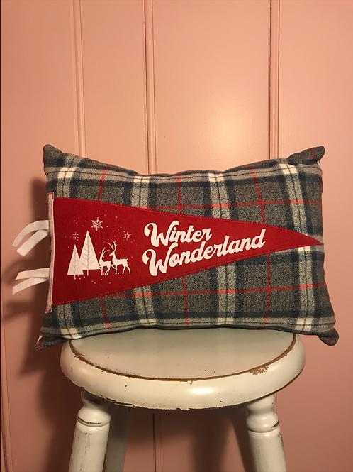 Winter Wonderland Pennant Pillow