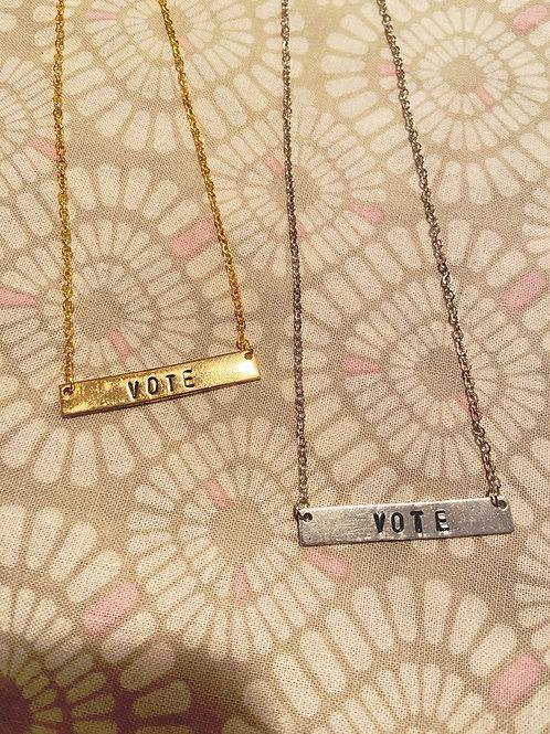 Vote Bar Necklace