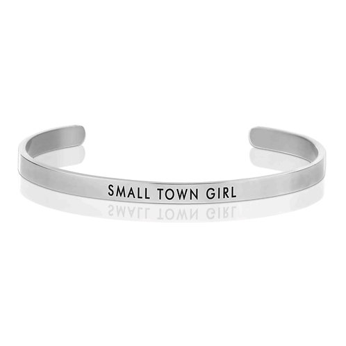Silver 'Small Town Girl' Cuff Bracelet