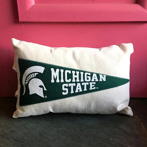 MSU Pennant Pillow