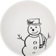 Snowman with Hat bowl