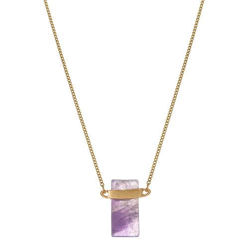 Purple Stone Necklace