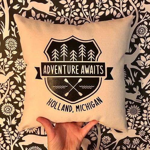 Holland Michigan Adventure Awaits Pillow