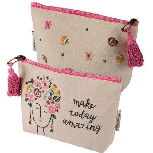Make today amazing  Zipper bag
