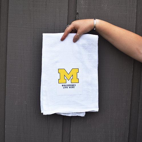 'Wolverines Live Here' Kitchen Towel