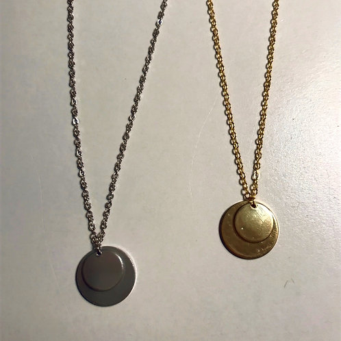 Customized Double Circle Necklace