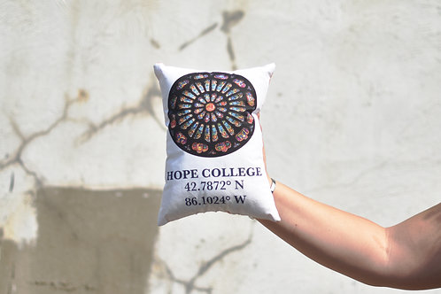 Hope College Coordinates Pillow