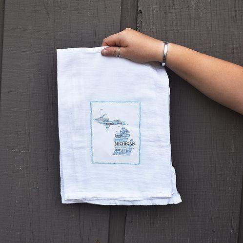 Summer 'Michigan Words' Kitchen Towel