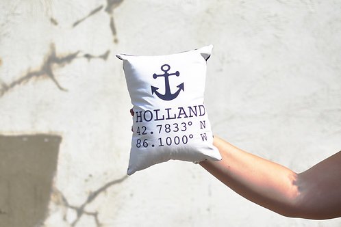 Anchor with Holland Coordinates Pillow