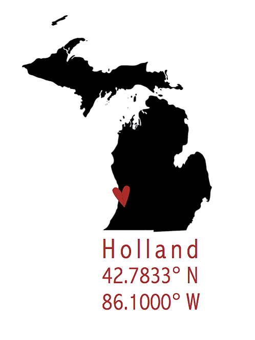 Black 'Holland Coordinates' Artwork