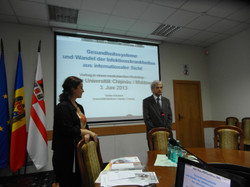 prof. Schubert in Chisinau