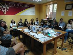 Foto-Interaction-Diskussion mit Oxana Alistratova in Tiraspol