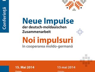 Konferenz Neue Impulse der deutsch-moldauischen Zusammenarbeit. Konferenz. Chişinău. 15. Mai 2014