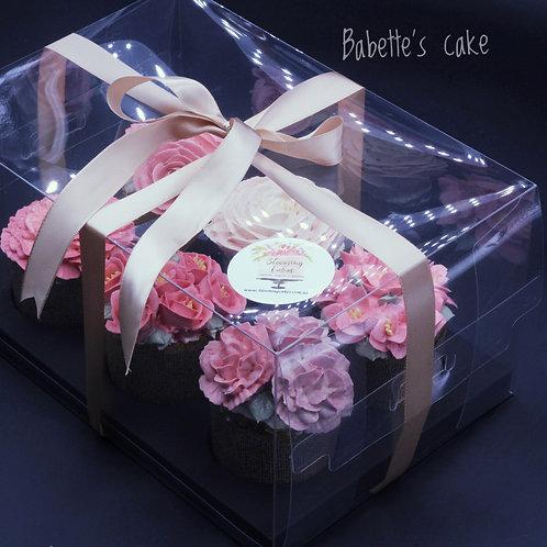 6 mini cake set container