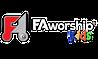 Kids logo word for blue banner in websit