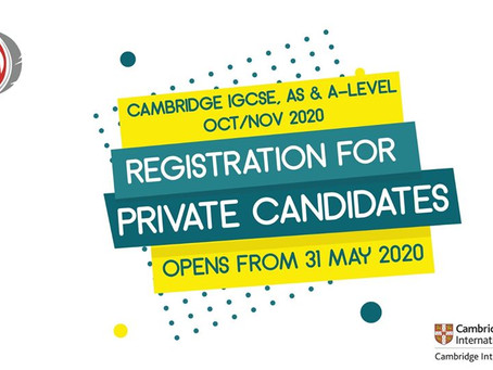 Cambridge Private Candidate opens from May 31, 2020