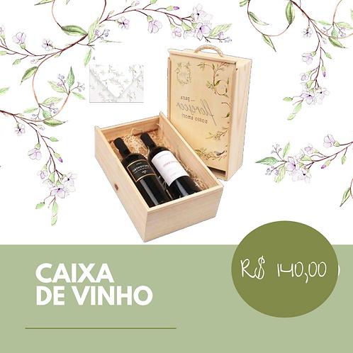 Caixa de Madeira com 2 Vinhos