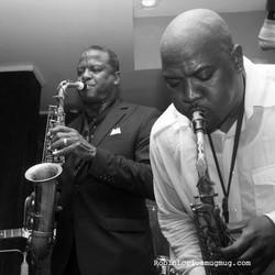 Saxophonist Dwight D. Bosman