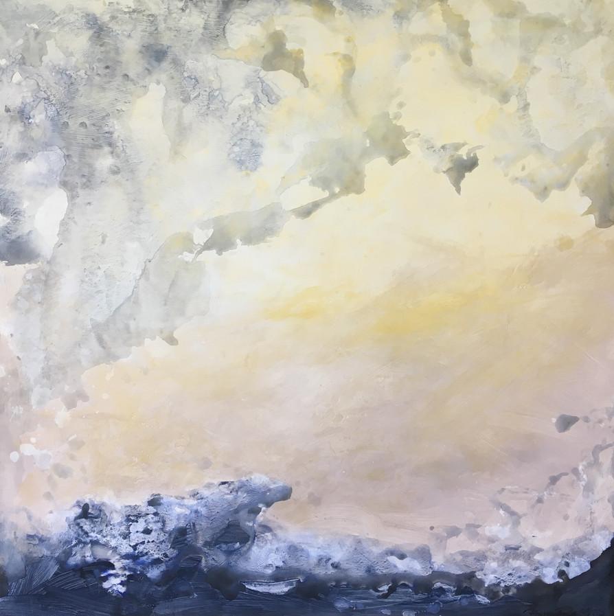 Lerato - Song of my Soul 36x36 Acrylic on Wood Panel, 2015