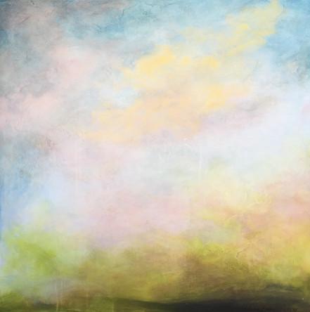 "Botan ""Blossom"" 36x36 Acrylic on Wood Panel, 2011"