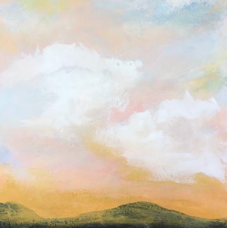 """Iolia - Dawn of Day"" 24x24 Acrylic on Wood Panel, 2016"