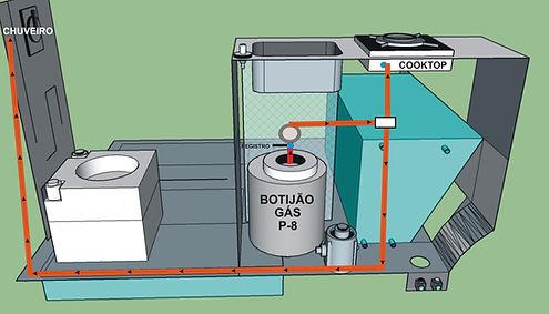 diagrama distribuição GÁS fogão 1 boca.j