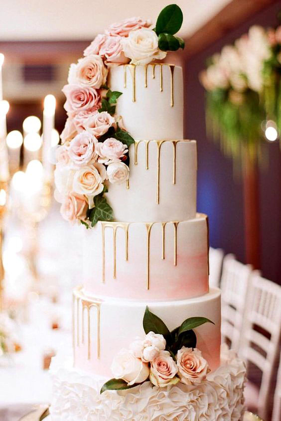 expert wedding flower cake