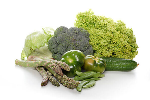 A photo of some green vegetables for nutrition.