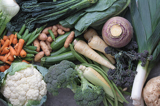 A photo of vegetables for healthy nutrition.