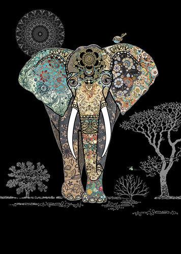 Carte Éléphant