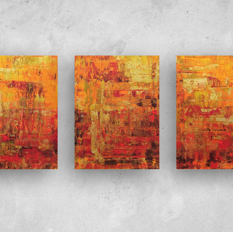 Sunset Trio £200 (Sold)