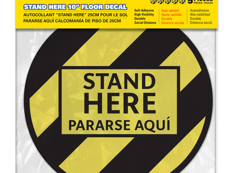 """""""Stand Here"""" Decals that Stand Out"""