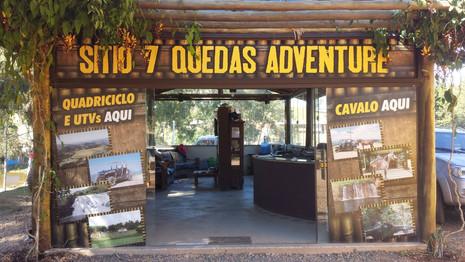 Sitio Sete Quedas Adventure - fachada entrada