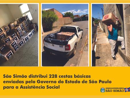 Governo do Estado envia 228 cestas básicas