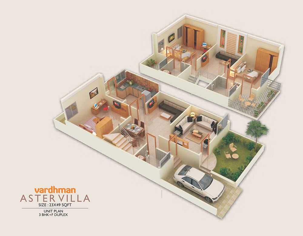 Vardhman City Aster Villa - 3D view