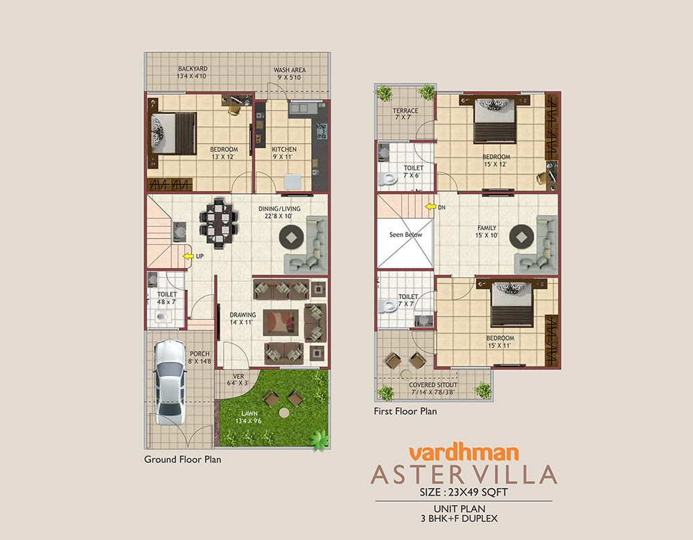 Vardhman City Aster Villa - 2D VIEW