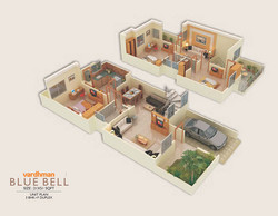 Vardhman City Blue Bell - 3D VIEW