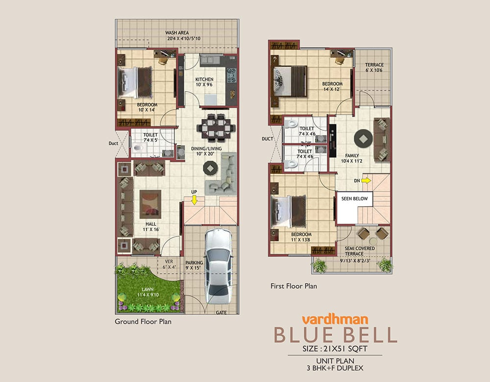Vardhman City Blue Bell - 2D VIEW