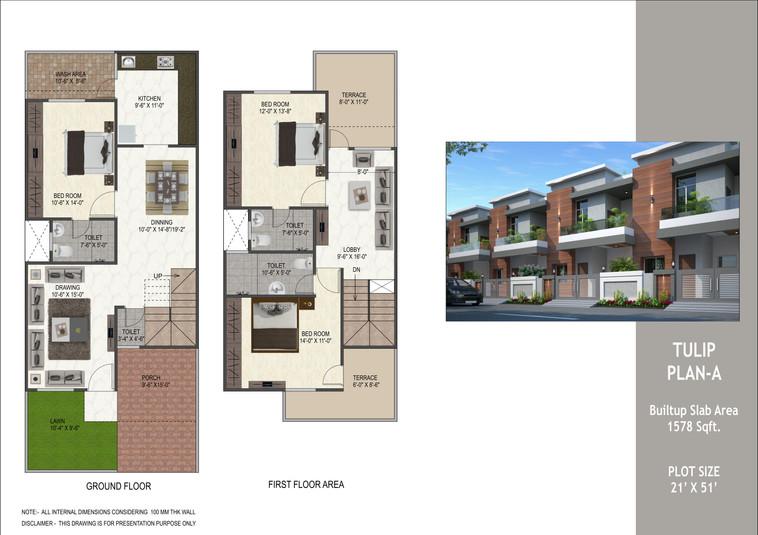 Tulip Villa's layout plan