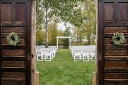 Pond Ceremony Site w/ Doors