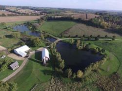 Drone View of Farm